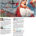 Jonathan Ross advises Daily Telegraph readers on how to stay healthy this Christmas