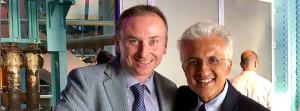 Consultant Ophthalmologists Raman Malhotra and Jonathan Ross at the BOPSS conference